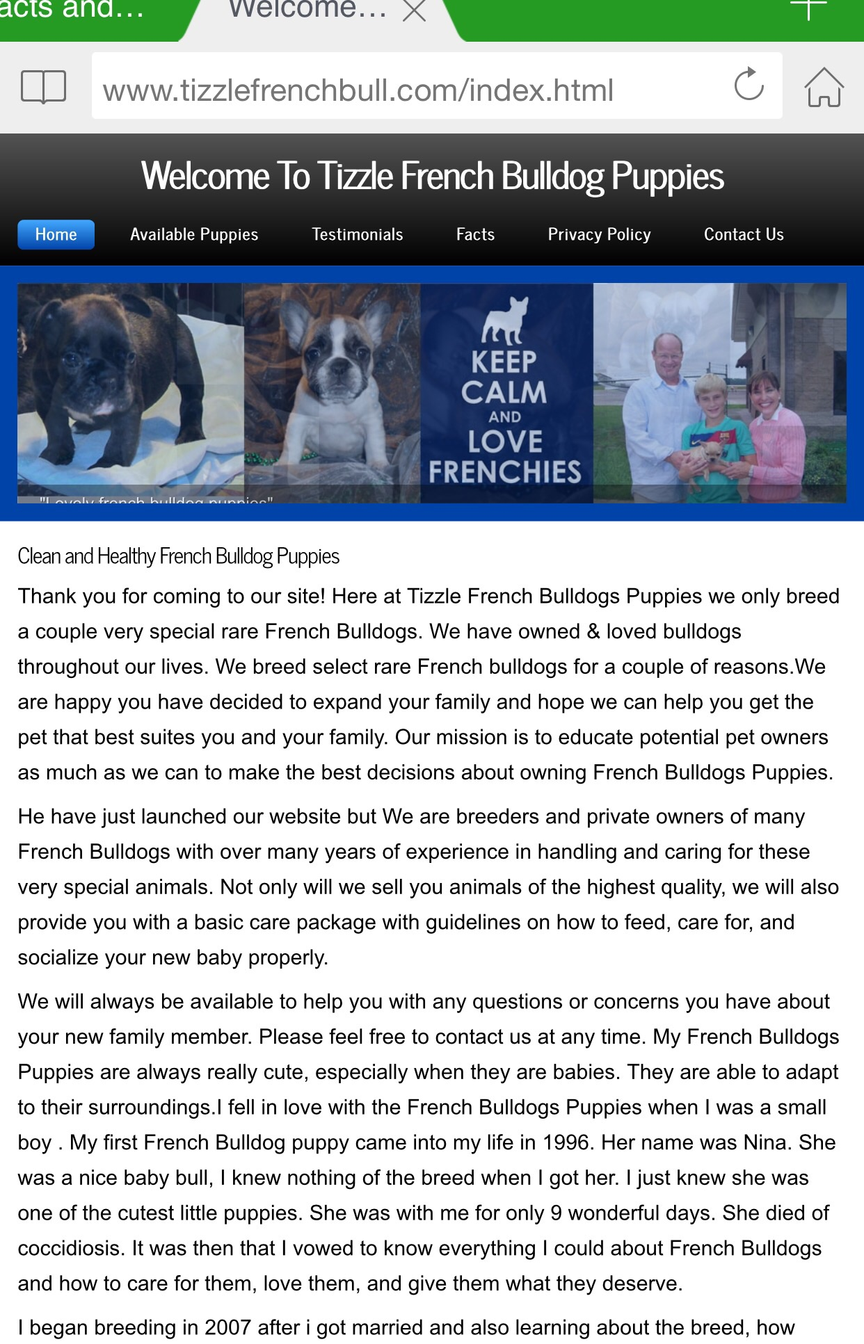 FRENCH BULLDOG SCAM ALERT PAGE